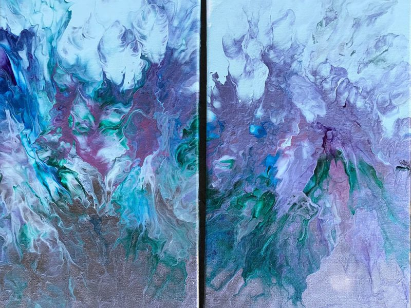 Whispering Winds Diptych 20 x 20