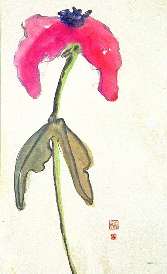 pink flower 34x24